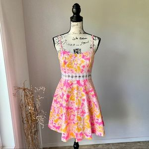 Lilly Pulitzer Open Side Pink Floral Summer Dress